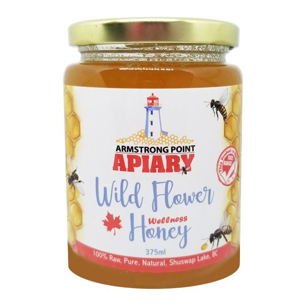 Pure Raw Honey, Bee Products, Shuswap, BC, Canada