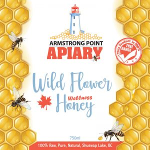 Honey, Wildflower, Pure, Raw, Armstrong Point Apiary, Shuswap, Eagle Bay, BC